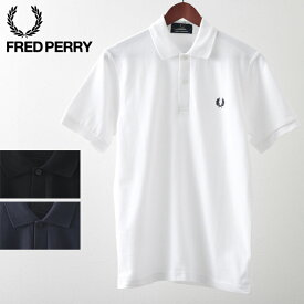 フレッドペリー メンズ ポロシャツ ポロ Fred Perry M3 英国製 The Original One Colour 20SS 新作 3色 ネイビー ブラック ホワイト 正規販売店