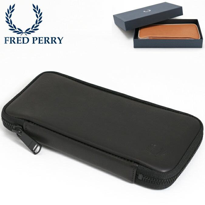 フレッドペリー Fred Perry 長財布 レザーパース 18SS アラウンドジップ ウォレット 本革レザー 牛革 日本製 ブラック キャメル メンズ レディース プレゼント ギフト