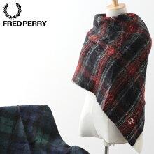 フレッドペリーレディーススカーフスヌードタータンニットFredPerry19AW新作ユニセックス男女兼用2色ネイビーブラックメンズプレゼントギフト正規販売店