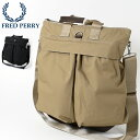 セール SALE フレッドペリー Fred Perry ヘルメットバッグ ショルダーバッグ 2WAY 48x42cm 2色 ネイビー ベージュ 大…