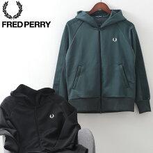 フレッドペリー秋冬メンズジャージハイネックスウェットフーディー2020AW新作FredPerry2色ブラックダークグリーン正規販売店ギフト