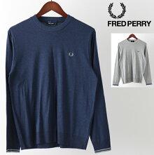 フレッドペリーFredPerryセータークルーネック2色18AW新作ネイビーミックスグレー正規販売店メンズプレゼントギフト