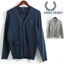 セール SALE フレッドペリー Fred Perry Vネックカーディガン 2色 ネイビー ミックスグレー 正規販売店 メンズ プレゼント ギフト