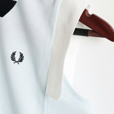 フレッドペリーレディースノースリーブポロシャツポロピケ鹿の子18SS新作日本製3色ネイビーオフホワイトサックスブルーFredPerryMadeinJapan正規品プレゼントギフト