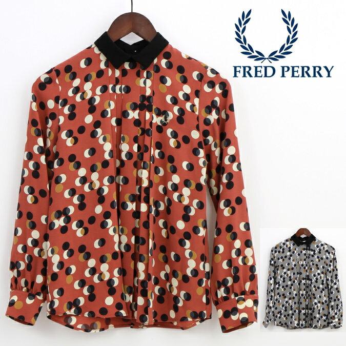 Fセール フレッドペリー Fred Perry レディース プリントシャツ ドット レトロ 正規販売店 プレゼント ギフト