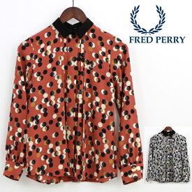 フレッドペリー Fred Perry レディース プリントシャツ ドット レトロ 正規販売店 プレゼント ギフト