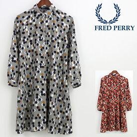 フレッドペリー Fred Perry レディース プリントシャツ ドレス ドット レトロ 正規販売店 プレゼント ギフト