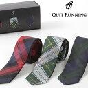 ピュアシルク100% ネクタイ 3本セット Quit Running タータンチェック 3種類 シルク ネクタイ ハンドメイド クイトラ…