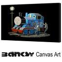 """バンクシー 壁掛け アート アートパネル アートフレーム 【送料無料】BANKSY CANVAS ART バンクシー """"Thomas"""" 91.0 x 61.0 ..."""