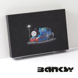 """BANKSY CANVAS ART キャンバス アートファブリックパネル スモール """"Thomas"""" 31.5cm × 21cm アート トーマス ギフト トラッド"""