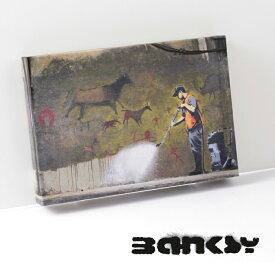 "BANKSY CANVAS ART キャンバス アートファブリックパネル スモール ""Wall Washer"" 31.5cm × 21cm アート 壁画 ギフト トラッド"