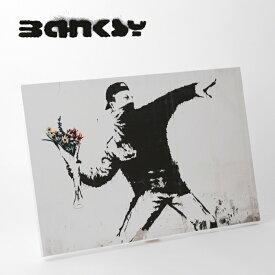 "SALE セール ! BANKSY CANVAS ART キャンバスアートパネル ポスター ""Flower Thrower Zoom"" 60cm × 40cm バンクシー 野球 ベースボール 【送料無料】 ギフト"