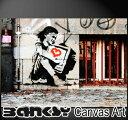 """バンクシー 壁掛け アート アートパネル アートフレーム 【送料無料】BANKSY CANVAS ART バンクシー """" Kid TV Hug Rare Pop..."""