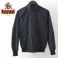 バラクータG9オリジナルハリントンジャケット17AW新作ブラック英国製メンズリブブルゾン上着ギフトプレゼント