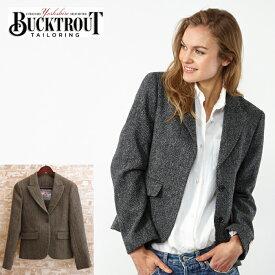 ハリスツイード バックトラウト Harris Tweed ジャケット テーラード 英国縫製 ヘリンボーン チェック 2色 Tammy ピュアニューウール100% Bucktrout レディース ギフト トラッド
