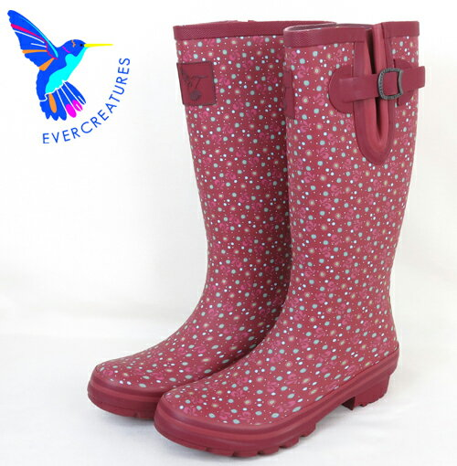Evercreatures レインブーツ 長靴 【送料無料】 UKデザイン レディース プレゼント ギフト