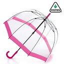 フルトン FULTON 傘 レディース バードケージ FULTON レディース 長傘 透明 ピンク 正規 かさ 鳥かご エリザベス女王 プレゼント ギフト