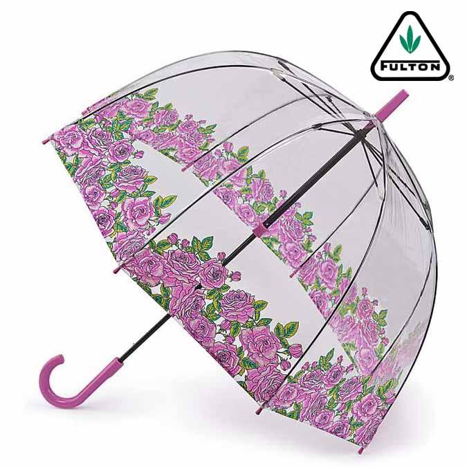 フルトン FULTON 傘 バードケージ カミングアップ ローズ 長傘 花柄 レディース 正規 かさ プレゼント ギフト