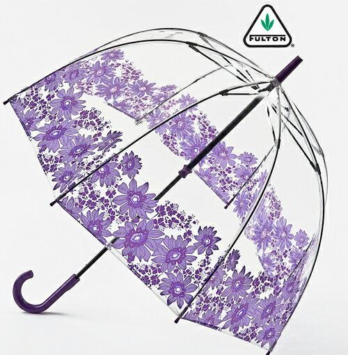 フルトン FULTON 傘 レディース バードケージ ガーベラ 長傘 花柄 レディース 正規 かさ おしゃれ プレゼント ギフト