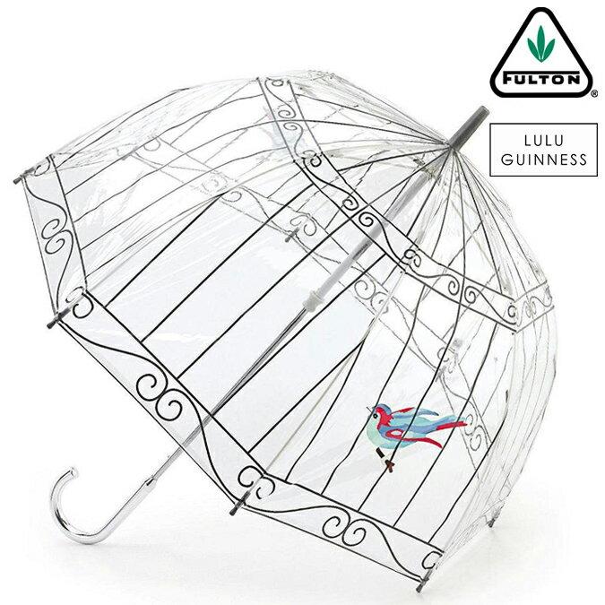 40%OFF SALE セール フルトン x ルルギネス 傘 Lulu Guinness x FULTON コラボ 鳥かご バードケージ 長傘 レディース プレゼント ギフト