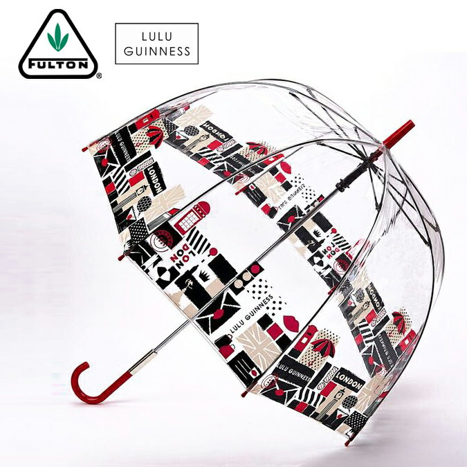 フルトン x ルルギネス 傘 Lulu Guinness x FULTON コラボ バードケージ ロンドンプリント 長傘 レディース プレゼント ギフト