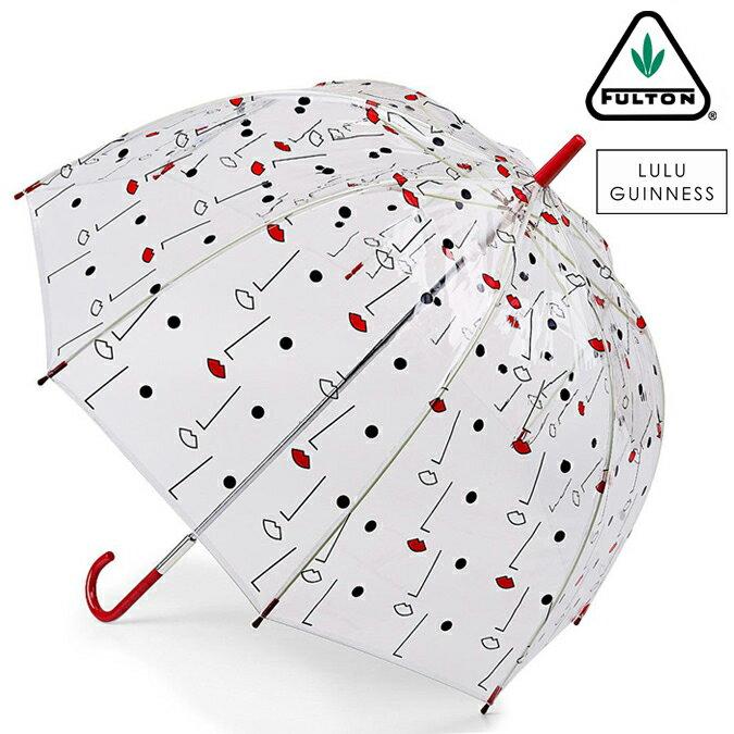 フルトン x ルルギネス 傘 Lulu Guinness x FULTON コラボ バードケージ リップ ツーフェイス 長傘 レディース プレゼント ギフト