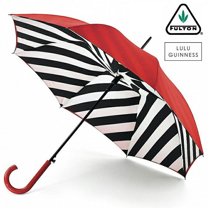 セール SALE フルトン x ルルギネス 傘 Lulu Guinness x FULTON コラボ ブルームズベリー レディース 長傘 かさ ジャンプ ワンタッチ プレゼント ギフト