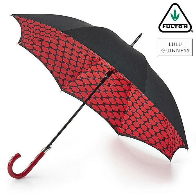 フルトン x ルルギネス 傘 Lulu Guinness x FULTON コラボ ブルームズベリー リップスグリッド 長傘 レディース プレゼント ギフト