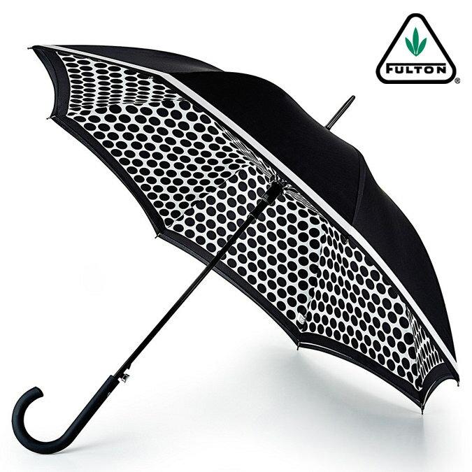フルトン FULTON 傘 レディース Bloomsbury 長傘 女性用 かさ コントラストスポット 正規 プレゼント ギフト ジャンプ傘