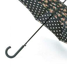FULTON×CathKidstonフルトンキャスキッドソンブルームズベリーBloomsburyキングスウッドローズチャコール傘レディース長傘女性用正規かさプレゼントギフト
