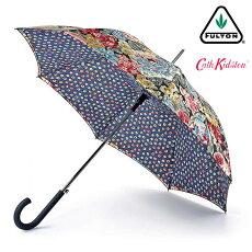 FULTON×CathKidstonフルトンキャスキッドソンブルームズベリーBloomsburyオーチャードブルームチャコール傘レディース長傘花柄女性用正規かさプレゼントギフト