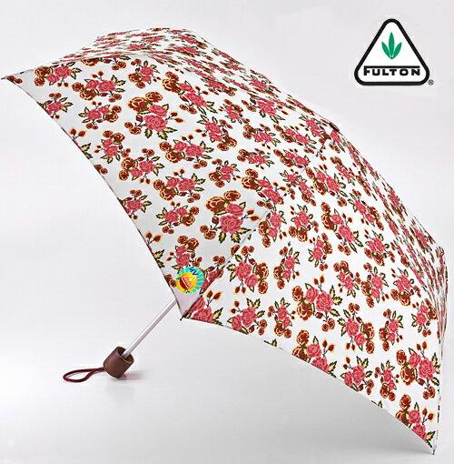 フルトン 傘 折りたたみ傘 アンブレラ Minilite UVカット 日傘 晴雨兼用 ピンクローズ FULTON レディース プレゼント ギフト