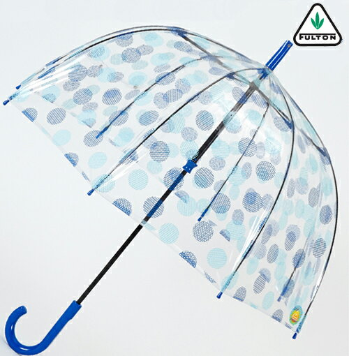 フルトン FULTON 傘 レディース バードケージ She's UV プロテクション ハートスポットブルー 長傘 レディース 正規 かさ FULTON プレゼント ギフト