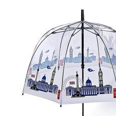 FULTONフルトン傘バードケージスカイライン長傘アートロンドンアイコン街並みレディースかさプレゼントギフト
