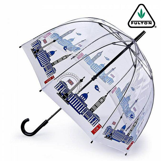 セール SALE FULTON フルトン 傘 バードケージ スカイライン 長傘 アート ロンドンアイコン 街並み レディース 正規 かさ プレゼント ギフト