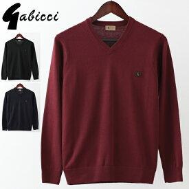 Gabicci メンズ セーター ガビッチ Vネック クラシック 2019 新作 レトロ 3色 ネイビー ポート ブラック モッズファッション プレゼント ギフト