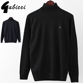 Gabicci メンズ セーター ガビッチ タートルネック クラシック レトロ 2色 ネイビー ブラック モッズファッション プレゼント ギフト 父の日