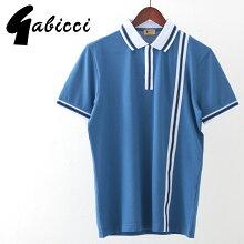 Gabicciメンズポロシャツポロティップラインガビッチ20SS新作コロンレトロモッズファッションプレゼントギフト