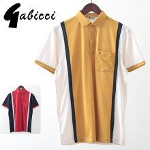 Gabicciメンズポロシャツポロラインガビッチ20SS新作2色ネイビーオートレトロモッズファッションプレゼントギフト