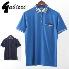 Gabicciメンズポロシャツポロティップラインガビッチ20SS新作2色コロンネイビーレトロモッズファッションプレゼントギフト
