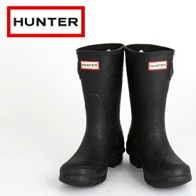 【ハンター HUNTER レインブーツ】 国内正規品 長靴 オリジナル ショート ウェーブ テクスチャー レディース