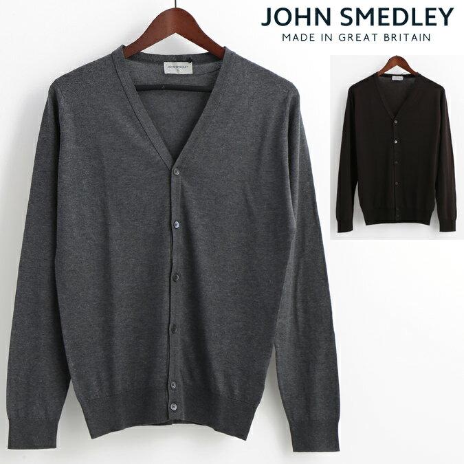 ジョンスメドレー JOHN SMEDLEY メンズ カーディガン WHICHURCH 5色 シーアイランドコットン ジョンスメドレイ レギュラーフィット 英国製 ニット メンズ プレゼント ギフト