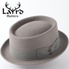 LairdHattersメンズポークパイフェルトハット英国製19AW新作ウールレアードハッタードイルラウンド帽子イギリス製ハンドメイドグレーレディースモッズファッション紳士プレゼントギフト