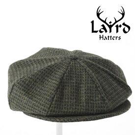 Laird Hatters メンズ キャスケット 英国製 ハンチング ウール ツイード ハンチング帽 レアードハッター 20SS 新作 Baker Boy Small Square ベイカーボーイ 帽子 イギリス製 ハンドメイド グリーン レディース モッズファッション 紳士 プレゼント ギフト ホワイトデー