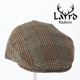 Laird Hatters メンズ キャスケット 英国製 ハンチング ウール ツイード ハンチング帽 レアードハッター 20SS 新作 Flat Cap Tweed フラットキャップ ツイード 帽子 イギリス製 プレイドグリーン レディース モッズファッション 紳士 ギフト ホワイトデー トラッド