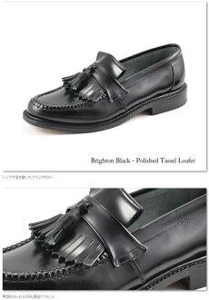 LoakeEnglandロークイングランドメンズシューズローファーハンドメイド【送料無料】BrightonTasselLoaferブラックタッセル靴本革革靴レザーモッズイギリスロンドン英国王室御用達loakebrightonblack*24.5*25*25.5*26*26.5*27*27.5