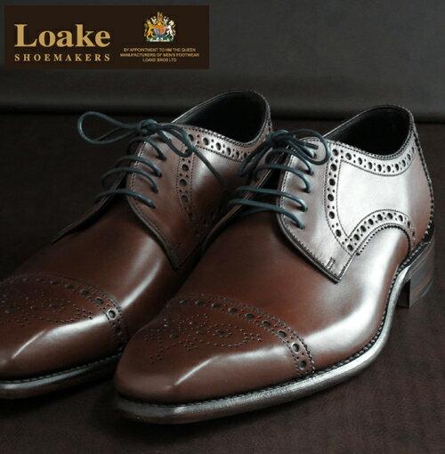 OFFセール Loake England ローク 革靴 メンズ セミブローグ シューズ F 3E BYRON ギフト