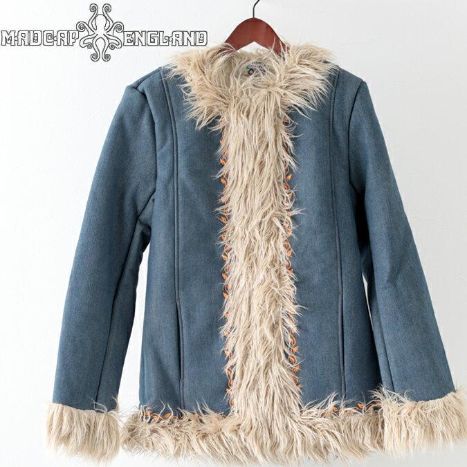 Madcap England メンズ アフガンコート マッドキャップ ウォールラス 19SS 新作 エスニック ブルー プレゼント ギフト モッズファッション
