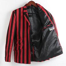 MadcapEnglandブレザージャケット18SS新作ストライプテーラードボーティングマッドキャップブラックレッドメンズプレゼントギフト