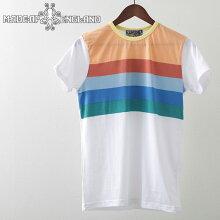MadcapEnglandTシャツ20SS新作ストライプRainbowWhiteマッドキャップレッドメンズプレゼントギフト